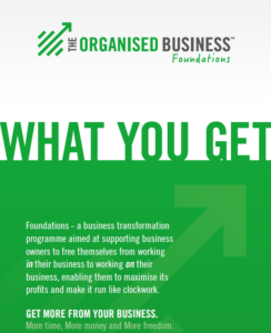The Organised Business - Foundations What you get